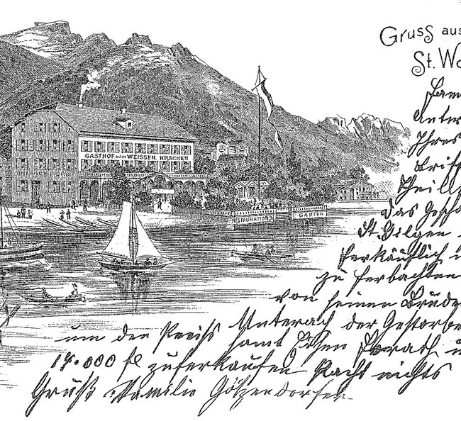 Postcard - Post from St. Wolfgang